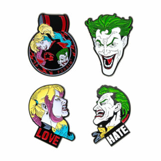 Harley Quinn Joker pin set DC Comics