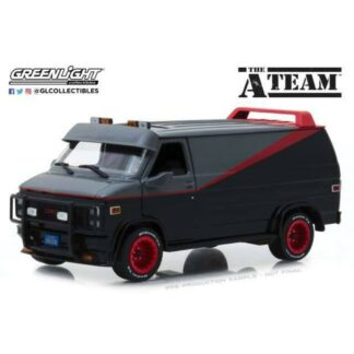 A-team diecast model GMC Vandura weathered version with bullet holes