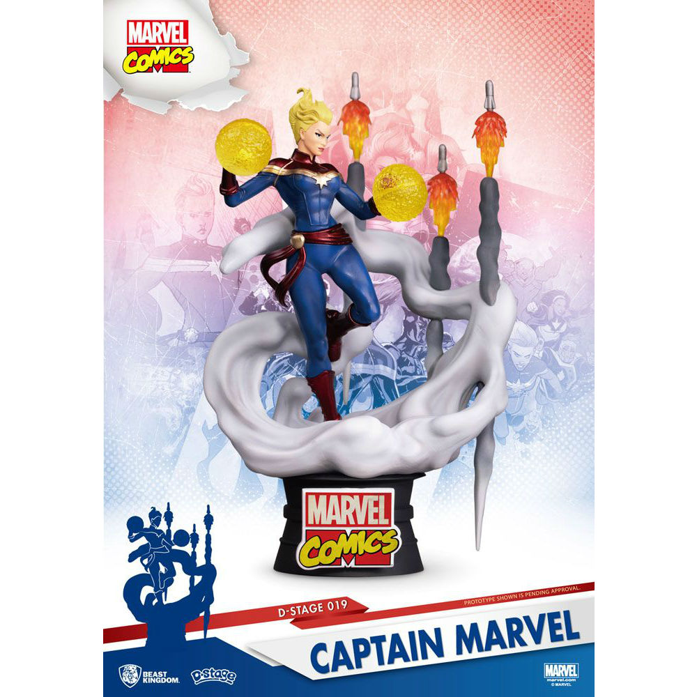 Captain Marvel D-Diorama Beast Kingdom Marvel Statue