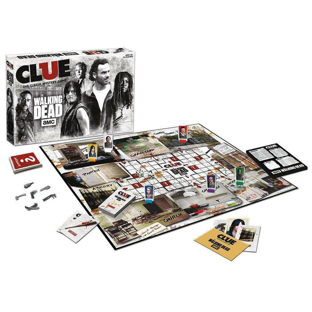 Walking Dead Cluedo series bordspellen AMC