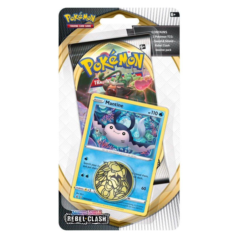 Pokémon Sword Shield Rebel Clash Checklane Blister Mantine