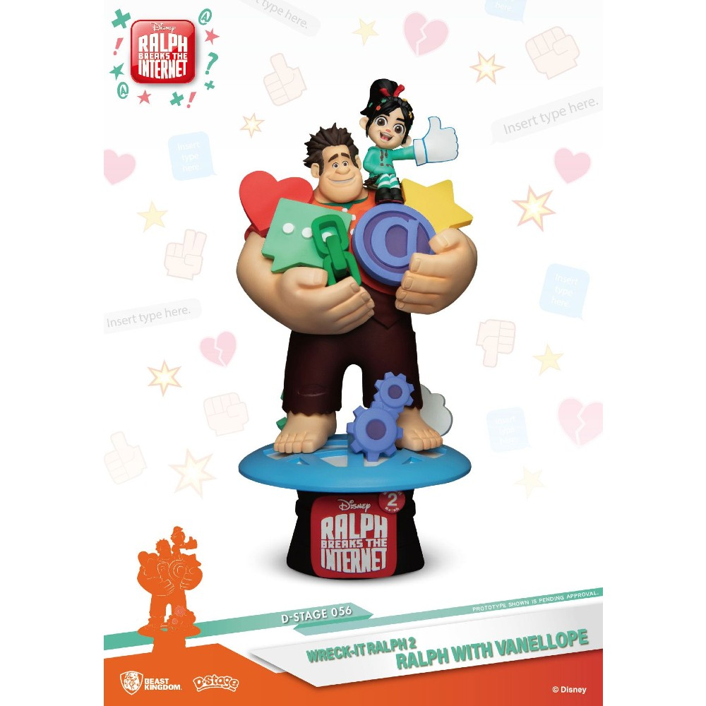 Ralph Breaks the internet D-Stage Diorma Ralph Vanellope 16 cm Disney