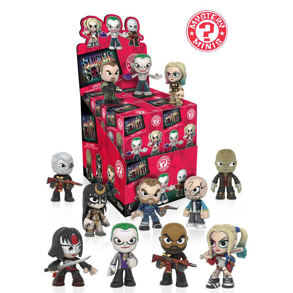 DC Comics Suicide Squad Mini mystery figures display Funko