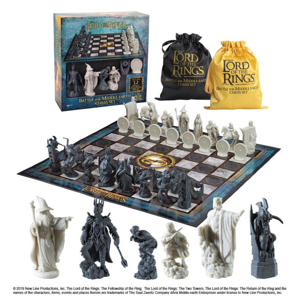 Lord of the rings Chess set Battle for middle earth movies