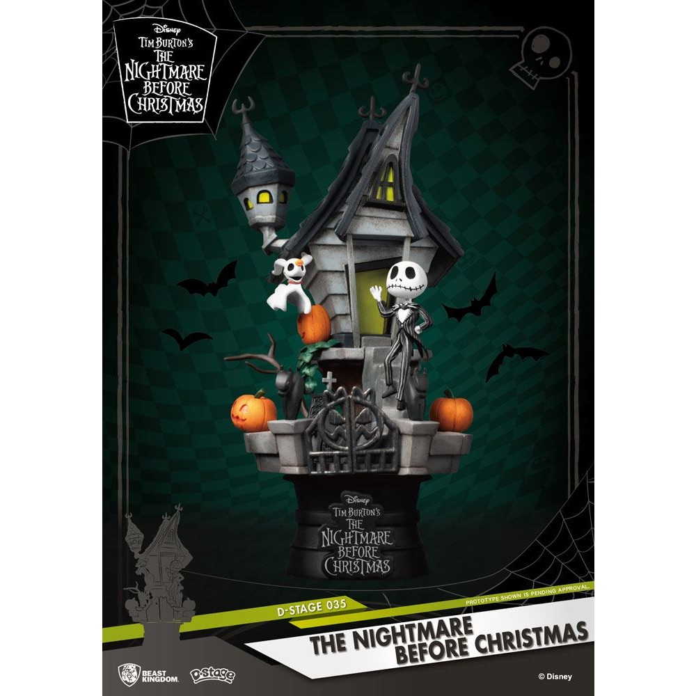 Nightmare before christmas D-stage Diorama Jack's Haunted House Disney