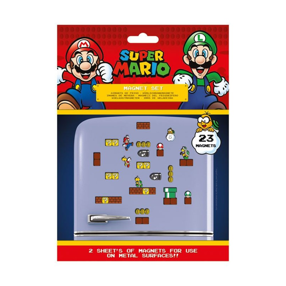 Super Mario Frigo Magneten Mushroom Kingdom Nintendo