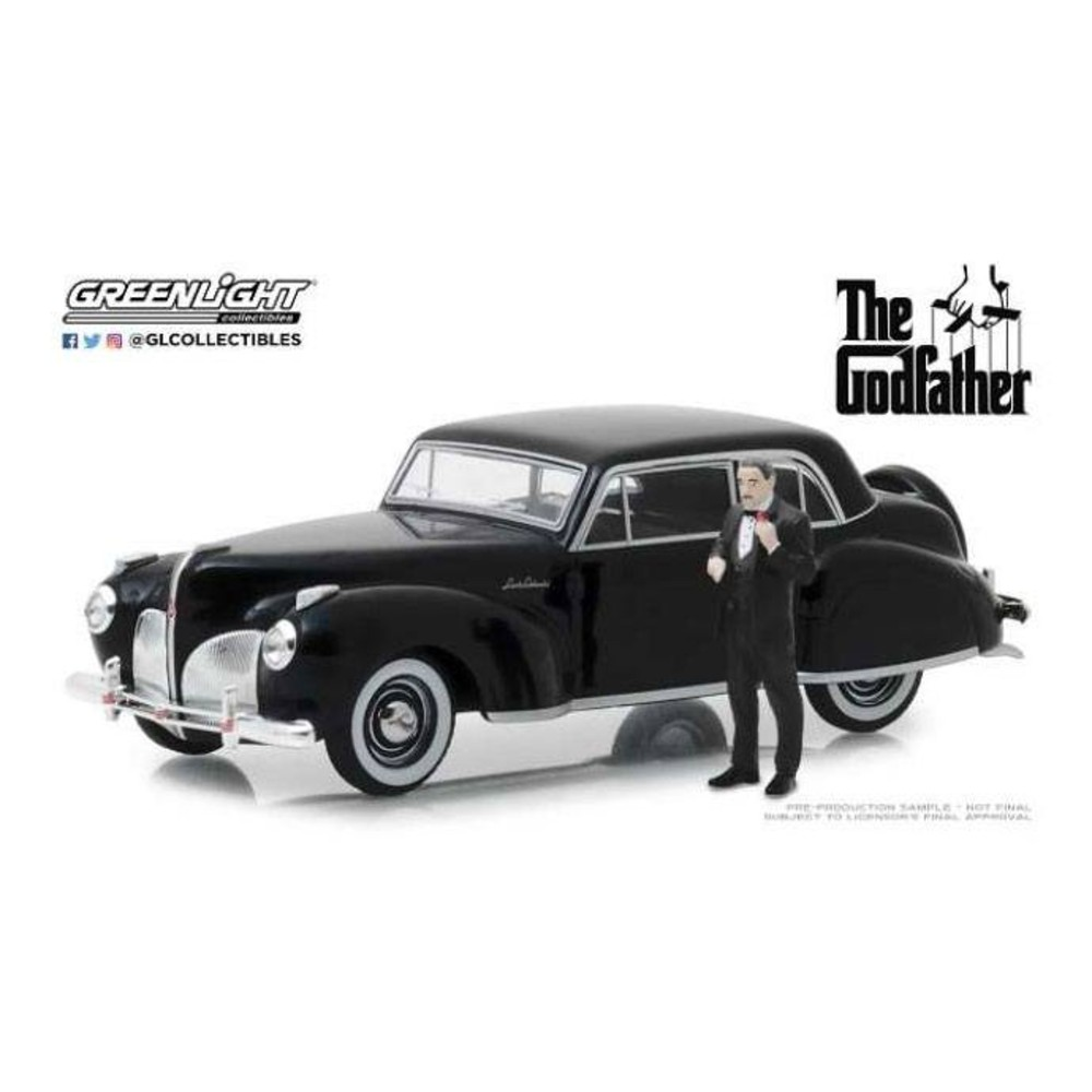 The Godfather Diecast Model 1/43 1941 Lincoln Continental figure movies