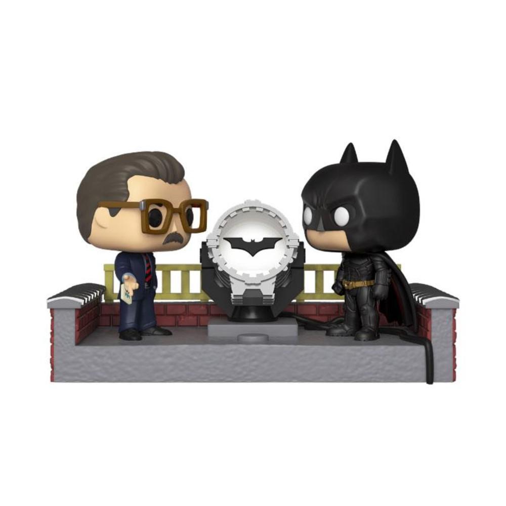 Batman - 80th Funko Pop Movie Moment Batman with Light Up Bat Signal 9 cm