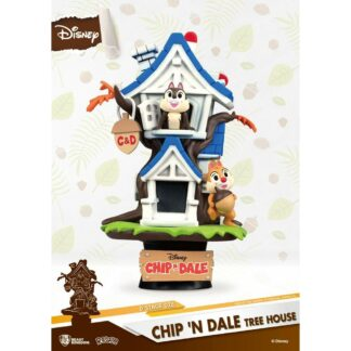 Disney Summer Series D-stage PVC Diorama Chip 'n Dale Tree House Beast Kingdom