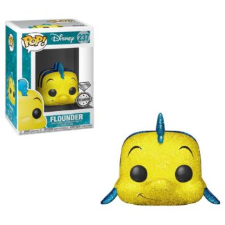 Funko Pop The Little Mermaid Flounder Diamond Glitter Disney