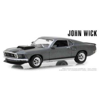 John Wick diecast model 1/43 1969 Ford Mustang BOSS movies