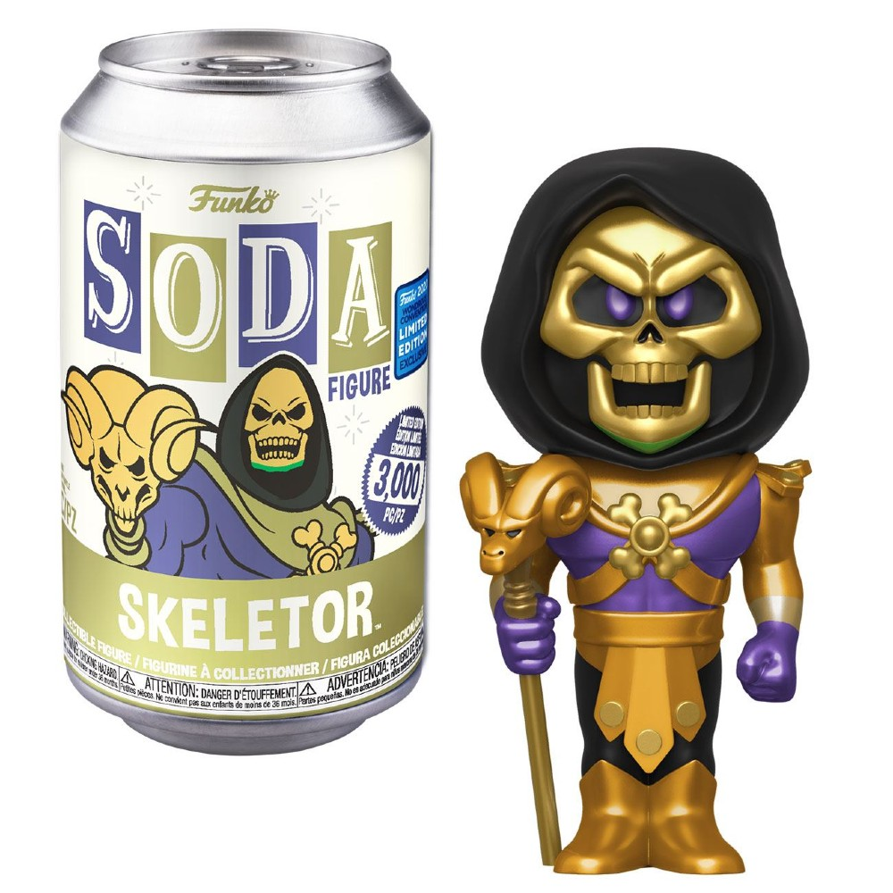 Masters of the universe POP movies Skeletor SODA figure Wondrous convention limited edition