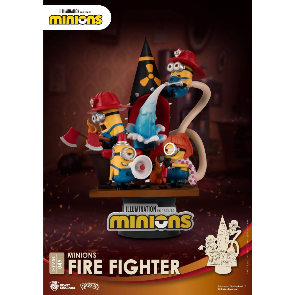 Minions PVC Diorama D-stage Fire Fighter