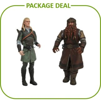 Lord of the rings movie merchandise Action figure package deal legolas gimli Diamond select toys