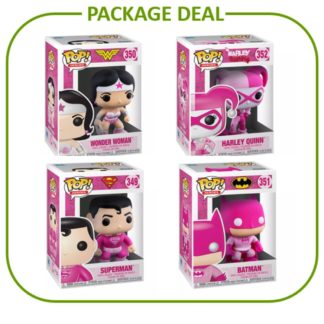 Funko Pop Package Deal Breast Cancer Batman Wonder Woman