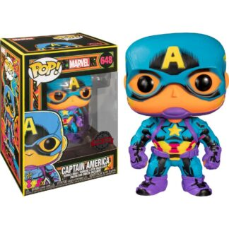 Captain America Marvel Black Light Funko Pop