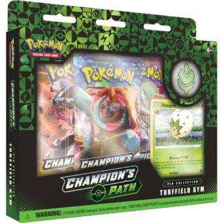 Pokémon trading card company Champion's Path Turffield Gym Pin Collection