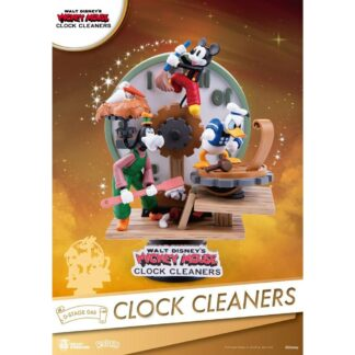 Disney Mickey Mouse D-stage PVC Diorama Clock Cleaners