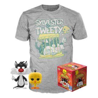 Looney Tunes Pop Tee Funko Box Sylvester Tweety
