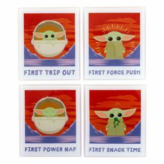 Mandalorian onderzetters child polaroids series