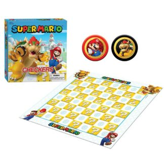 Super Mario Bros checkers Bowser