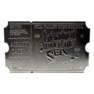 Back to the Future replica enchantment under the sea ticket limited edition silver plated