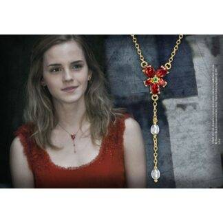 Harry Potter replica Hermione's Red Crystal Necklace
