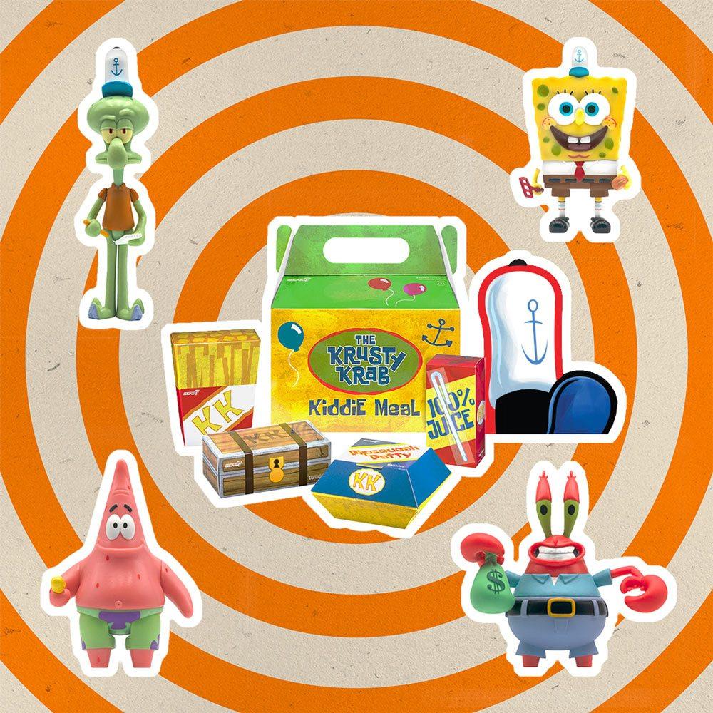 SpongeBob SquarePants - ReAction Action Figure 4-Pack Krusty Krab Meal NYCC 10 cm