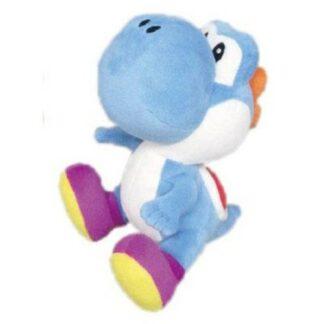 Super Mario bros blue yoshi knuffel