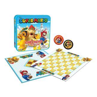 Super Mario bordspel Checkers damspel Bowser Tic-tac-toe
